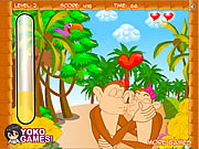 Click to Play Cute Monkey Kissing