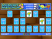 Click to Play Toy Story Memory Match-Up