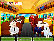 Click to Play School Bus Kiss