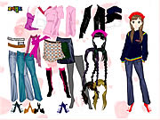 Click to Play Colorful Girl Dress Up