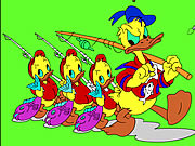 Click to Play Donald and Family Online Coloring Game