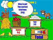 Click to Play Farm Stand Math