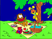 Click to Play Garfield Online Coloring Game