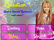Click to Play Hannah Montana Trivia