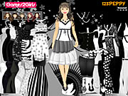 Click to Play Leena Black &amp; White Dressup
