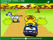 Click to Play The Lion at the Car