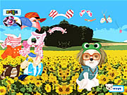 Click to Play Puppy in the Field Dressup