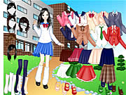 Click to Play School Girl Dress Up
