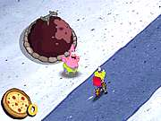 Click to Play Sponge Bobs Pizza Toss