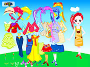 Click to Play Colorful Doll Dressup