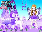Click to Play Purple Butterfly Dress up