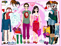 Click to Play Aaron and Gabrielle Couple Dressup